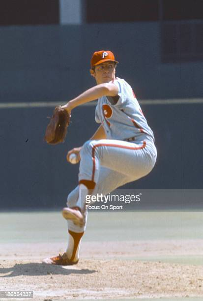 Rick Wise of the Philadelphia Phillies pitches during an Major League Baseball game circa 1970 Wise played for the Phillies in 1964 and 196671