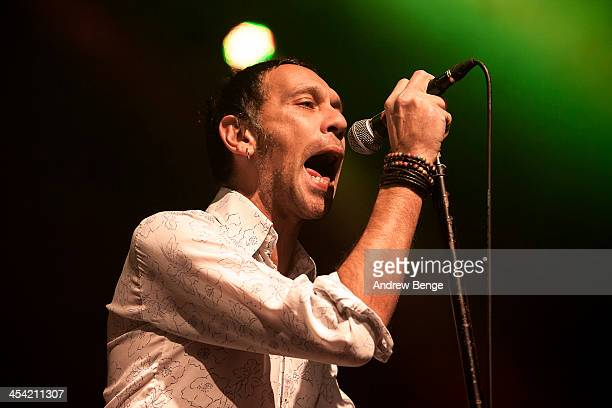 Rick Witter of Shed Seven performs on stage at Manchester Academy on December 7, 2013 in Manchester, United Kingdom.