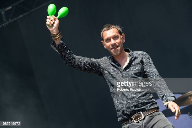 Rick Witter of Shed Seven performs on stage during TRNSMT Festival Day 2 at Glasgow Green on June 30 2018 in Glasgow Scotland