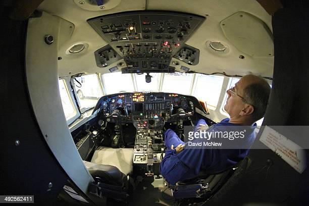 Rick Yasky chief pilot for the NASA Langley HU25C jet used in research missions involved in the Alternative Fuel Effects on Contrails and Cruise...