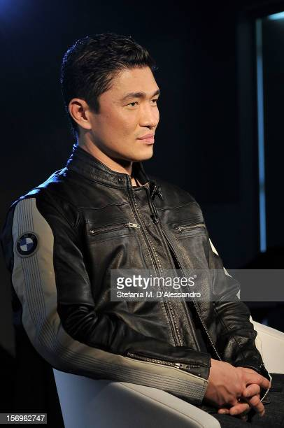 Rick Yune attends the BMW 'Ride of your Life' Promotion Event on November 15 2012 in Rome Italy