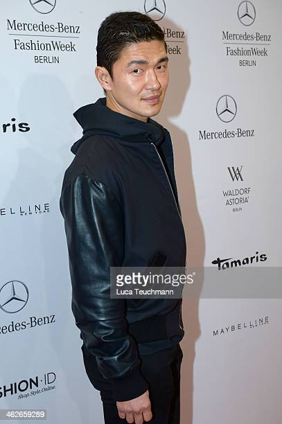 Rick Yune attends the Kilian Kerner show during MercedesBenz Fashion Week Autumn/Winter 2014/15 at Brandenburg Gate on January 14 2014 in Berlin...