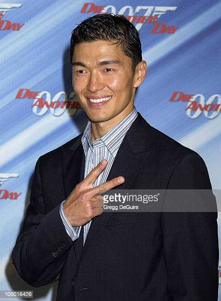 Rick Yune during Die Another Day Los Angeles Premiere at Shrine Auditorium in Los Angeles California United States