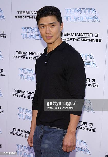 Rick Yune during Terminator 3 Rise of the Machines Los Angeles Premiere at Mann Village Theatre in Westwood California United States