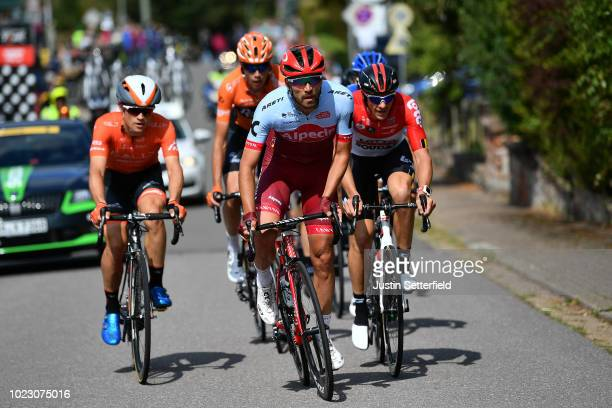 Rick Zabel of Germany and Team Katusha Alpecin / Adam Hansen of Australia and Team Lotto Soudal / during the 33rd Deutschland Tour 2018 Stage 3 a...