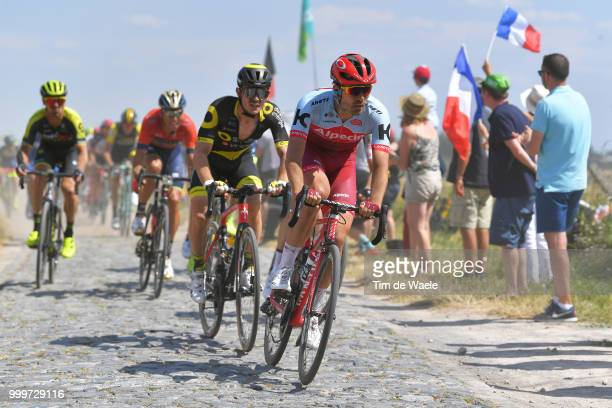Rick Zabel of Germany / during the 105th Tour de France 2018 Stage 9 a 1565 stage from Arras Citadelle to Roubaix on July 15 2018 in Roubaix France