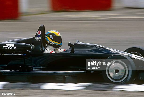 Rickard Rydell in a Toyota racing in a Formula Two race.