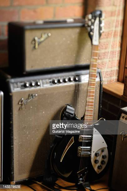 Rickenbacker 340 electric guitar and fender amplifiers owned by English guitarist and songwriter Johnny Marr most famous for his work with English...