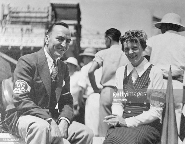 Rickenbacker Writes It All Down Another AirMan Amelia Earhart visits with Rickenbacker at the Indianapolis Speedway