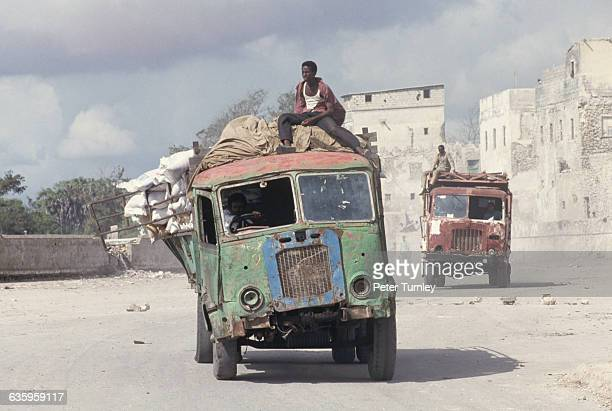 Rickety trucks transport US food aid from south to north Mogadishu during 'Operation Restore Hope' In the 1980s a civil war erupted in Somalia when...