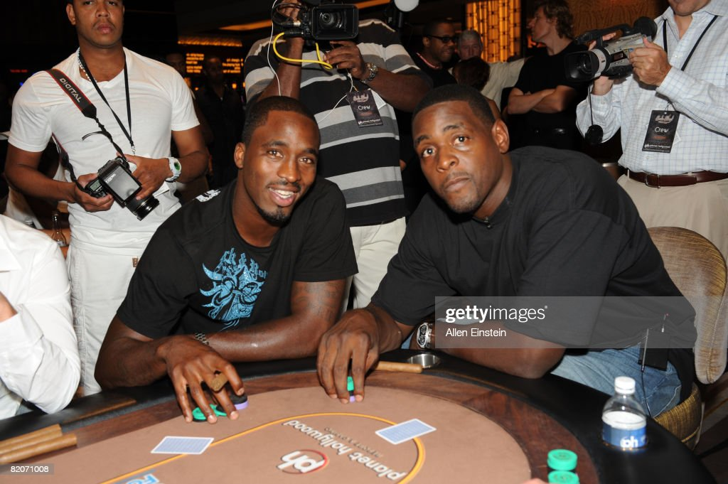 Rickey Davis of the Miami Heat and former NBA All-Star Chris Webber pose at the Celebrity Poker Tournament during Chris Webber's Bada Bling Celebrity Weekend on July 25, 2008 at Planet Hollywood Resort and Casino in Las Vegas, Nevada.