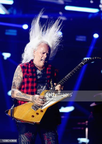 Rickey Medlocke of Lynyrd Skynyrd performs onstage during the 2018 iHeartRadio Music Festival at TMobile Arena on September 22 2018 in Las Vegas...