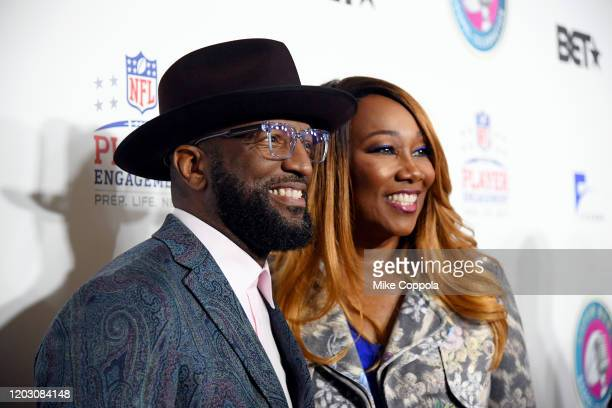 Rickey Smiley and Yolanda Adams attend the BET Super Bowl Gospel Celebration at the James L. Knight Center on January 30, 2020 in Miami, Florida.