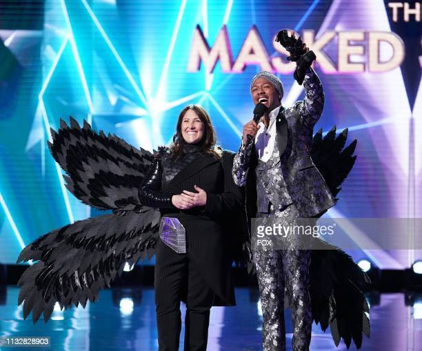 Ricki Lake and host Nick Cannon in the Touchy Feely Clues episode of THE MASKED SINGER airing Wednesday Feb 6 on FOX