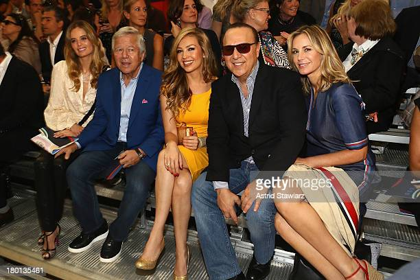 Ricki Lander Robert Kraft Thalia Matola Tommy Matola and Dee Hilfiger attend the Tommy Hilfiger Women's fashion show during MercedesBenz Fashion Week...