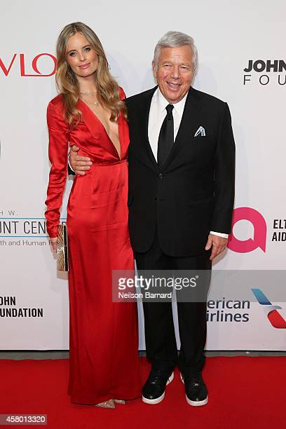 Ricki Noel Lander and Robert Kraft attend the Elton John AIDS Foundation's 13th Annual An Enduring Vision Benefit at Cipriani Wall Street powered by...