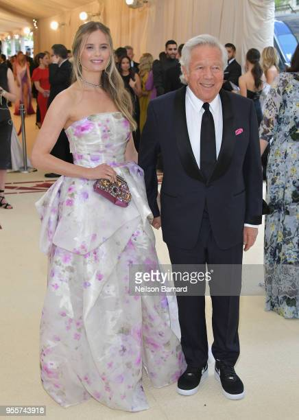 Ricki Noel Lander and Robert Kraft attend the Heavenly Bodies Fashion The Catholic Imagination Costume Institute Gala at The Metropolitan Museum of...