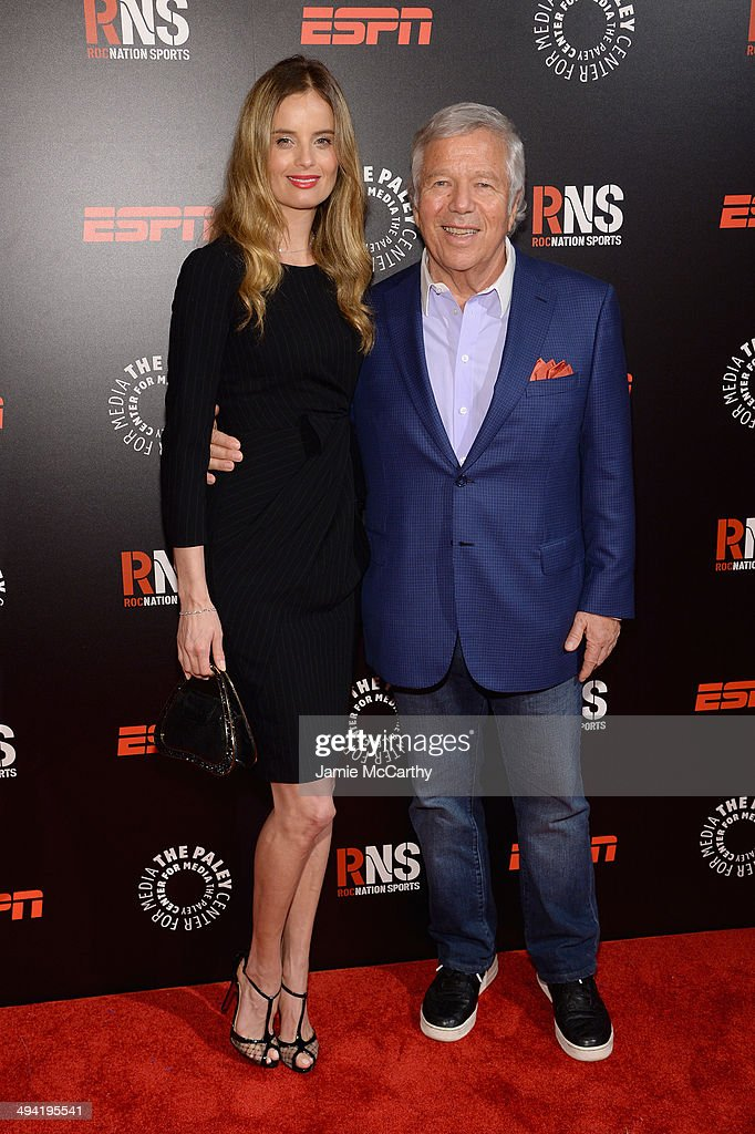 Ricki Noel Lander (L) and Robert Kraft attend the Paley Prize Gala honoring ESPN's 35th anniversary presented by Roc Nation Sports on May 28, 2014 in New York City.