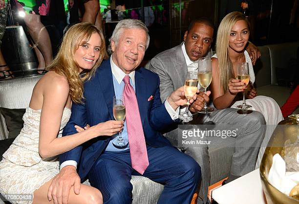 Ricki Noel Lander Robert Kraft JayZ and Beyonce attend The 40/40 Club 10 Year Anniversary Party at 40 / 40 Club on June 17 2013 in New York City