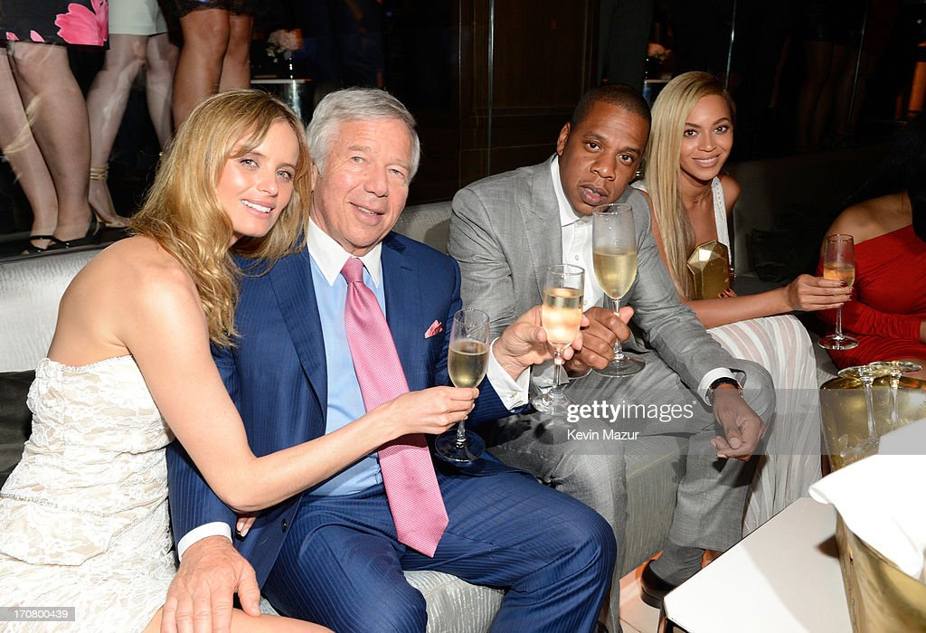 Ricki Noel Lander, Robert Kraft, Jay-Z and Beyonce attend The 40/40 Club 10 Year Anniversary Party at 40 / 40 Club on June 17, 2013 in New York City.