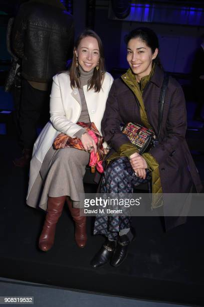 Rickie De Sole and Caroline Issa attend the Paul Smith AW18 Men's and Women's Show on January 21 2018 in Paris France