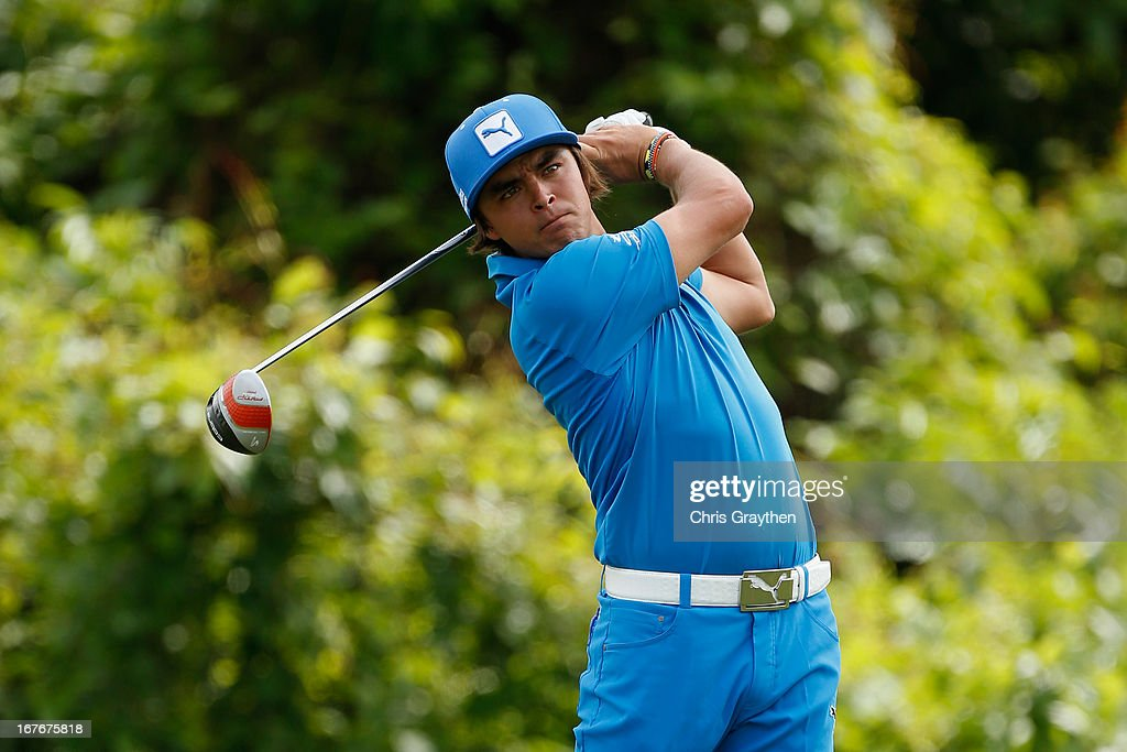 Rickie Fowler hits his tee shot on the second hole during the third round of the Zurich Classic of New Orleans at TPC Louisiana on April 27, 2013 in Avondale, Louisiana.