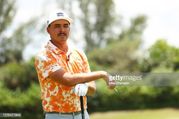 Rickie Fowler of the CDC Foundation team looks on during the TaylorMade Driving Relief Supported By UnitedHealth Group on May 17, 2020 at Seminole...