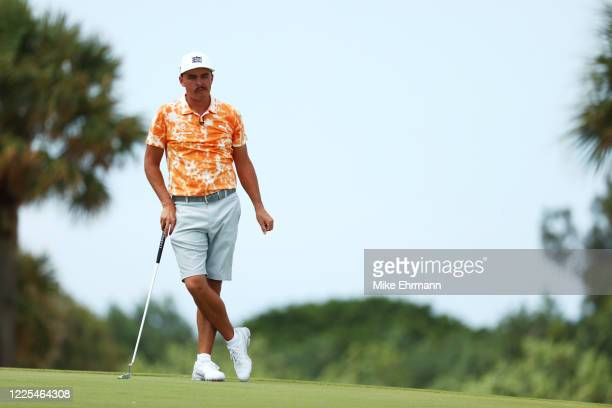 Rickie Fowler of the CDC Foundation team looks on from the fourth green during the TaylorMade Driving Relief Supported By UnitedHealth Group on May...