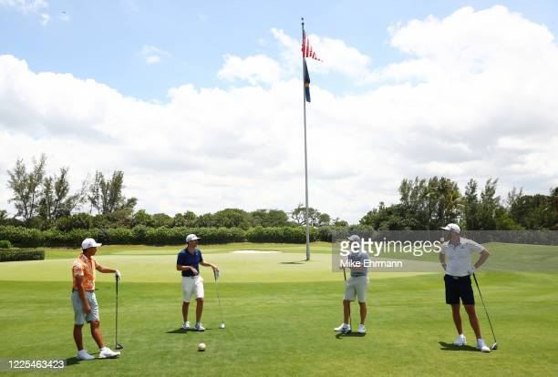 Rickie Fowler of the CDC Foundation team, Matthew Wolff of the CDC Foundation team, Rory McIlroy of the American Nurses Foundation team and Dustin...
