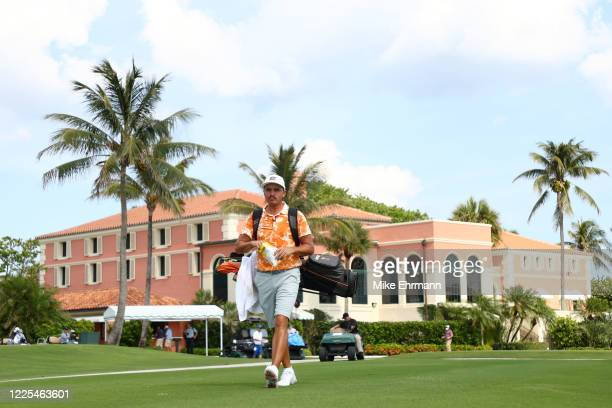 Rickie Fowler of the CDC Foundation team walks from the tenth tee during the TaylorMade Driving Relief Supported By UnitedHealth Group on May 17,...
