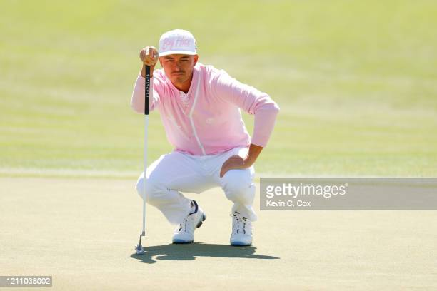 Rickie Fowler of the United States lines up a putt on the second green during the third round of the Arnold Palmer Invitational Presented by...
