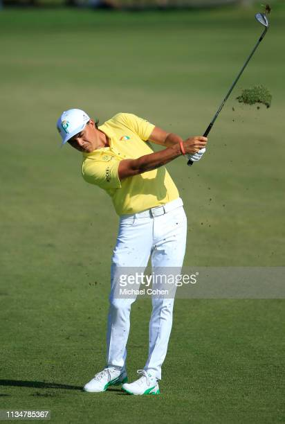 Rickie Fowler of the United States plays a shot on the sixth hole during the third round of the Arnold Palmer Invitational Presented by Mastercard at...