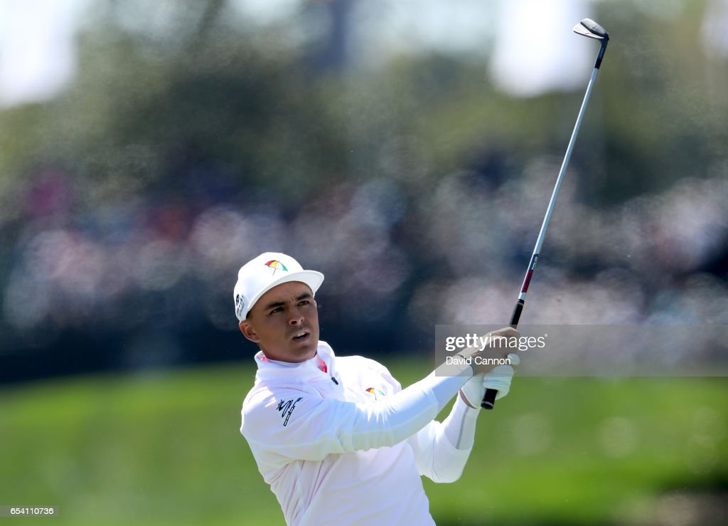Rickie Fowler of the United States plays his second shot on the par 4, first hole during the first round of the 2017 Arnold Palmer Invitational presented by MasterCard on March 16, 2017 in Orlando, Florida.