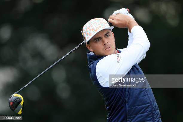 Rickie Fowler of the United States plays his shot from the 14th tee during the first round of the Honda Classic at PGA National Resort and Spa...