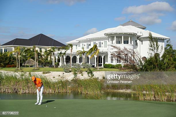 Rickie Fowler of the United States putts on the 12th hole during the final round of the Hero World Challenge at Albany The Bahamas on December 4 2016...
