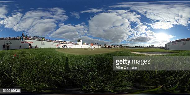 Rickie Fowler of the United States putts on the 16th green during the final round of the Honda Classic at PGA National Resort Spa Champions Course on...