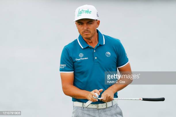 Rickie Fowler of the United States reacts on the 11th green during the second round of the Arnold Palmer Invitational Presented by MasterCard at the...