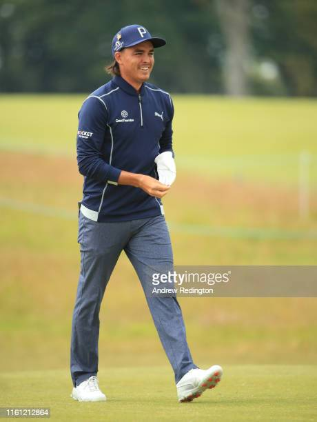 Rickie Fowler of the USA in action during the Pro Am event prior to the start of the Aberdeen Standard Investments Scottish Open at The Renaissance...