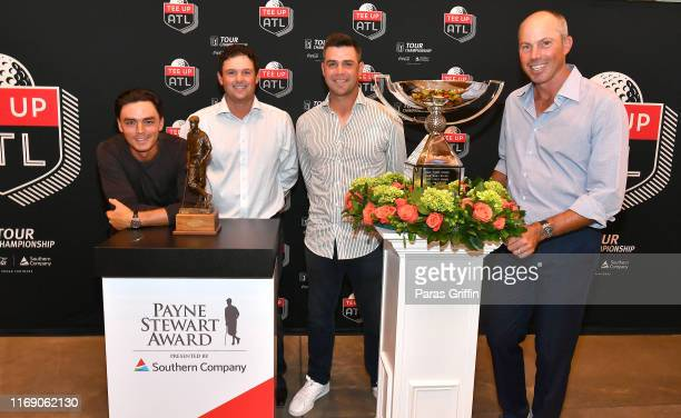 Rickie Fowler Patrick Reed Gary Woodland and Matt Kuchar attend 5th Annual Tee Up ATL Party at College Football Hall of Fame on August 19 2019 in...