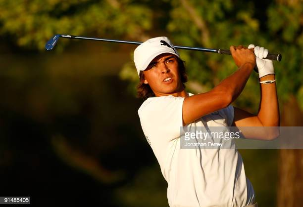 Rickie Fowler plays a shot during the first round of the Albertson's Boise Open at Hillcrest Country Club on September 17 2009 in Boise Idaho