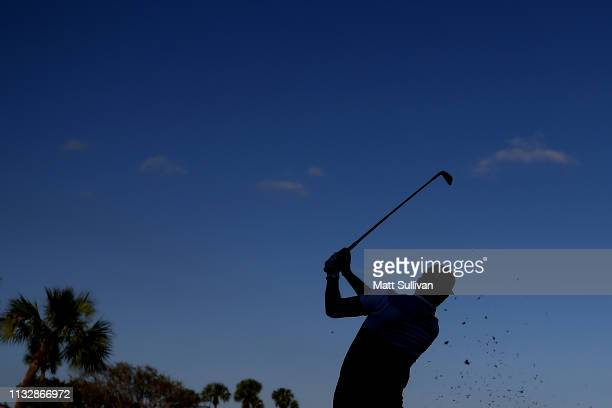 Rickie Fowler plays his shot from the 15th tee during the first round of the Honda Classic at PGA National Resort and Spa on February 28 2019 in Palm...