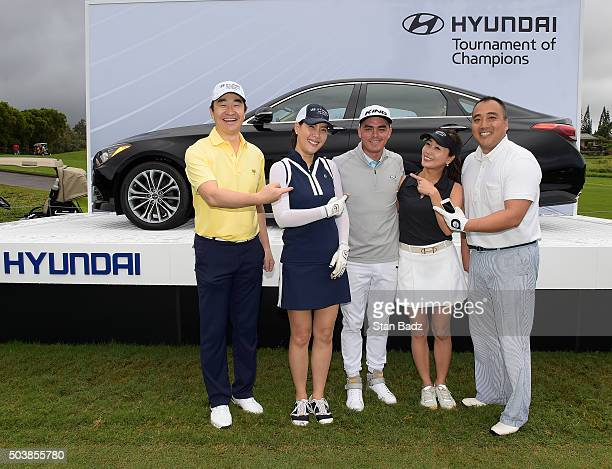 Rickie Fowler poses for a team photo during the ProAm round for the Hyundai Tournament of Champions at Plantation Course at Kapalua on January 6 2016...