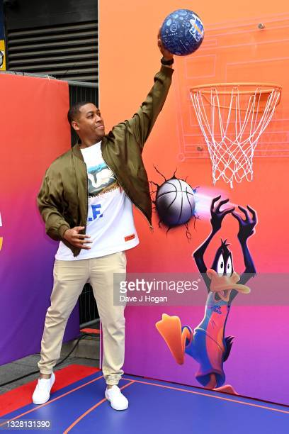 """Rickie Haywood-Williams attends a special screening of """"SPACE JAM: A NEW LEGACY"""" in cinemas 16th July at Cineworld Leicester Square on July 11, 2021..."""