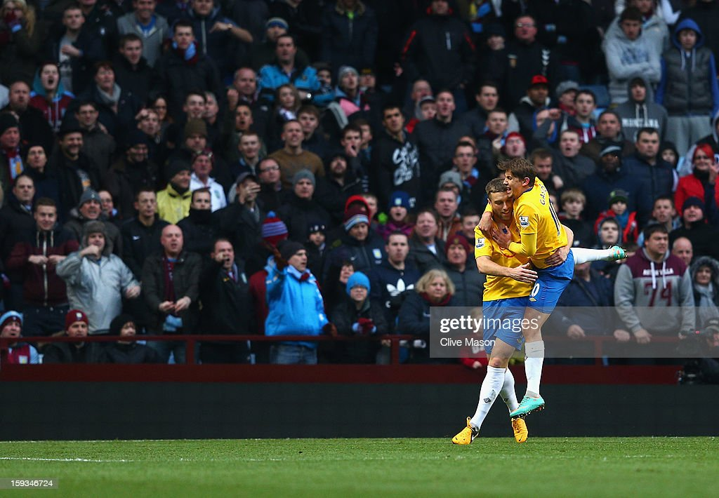 Rickie Lambert of Southampton celebrates scoring from the penalty spot during the Barclays Premier League match between Aston Villa and Southampton at Villa Park on January 12, 2013 in Birmingham, England.