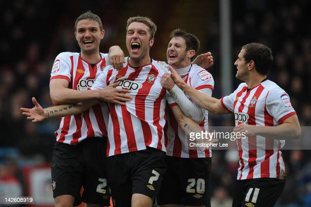 Rickie Lambert of Southampton celebrates scoring their second goal during the npower Championship match between Crystal Palace and Southampton at...