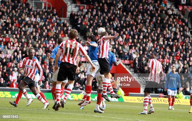 Rickie Lambert of Southampton scores against Portsmouth during the FA Cup sponsored by E.ON fifth round match between Southampton and Portsmouth at...