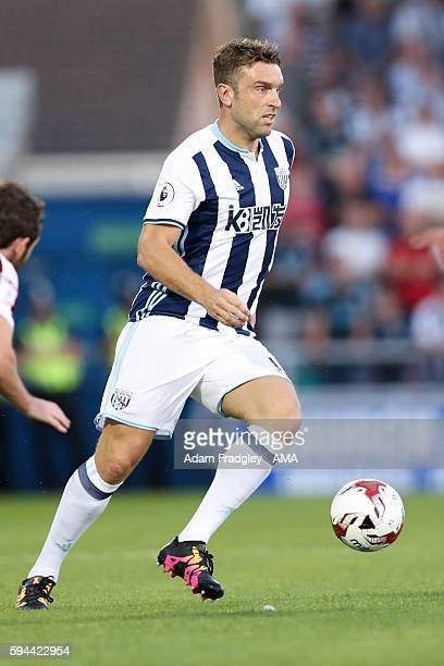 Rickie Lambert of West Bromwich Albion during the EFL Cup fixture between Northampton Town and West Bromwich Albion at Sixfields on August 23 2016 in...