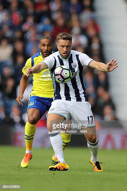 Rickie Lambert of West Bromwich Albion during the Premier League match between West Bromwich Albion and Everton at The Hawthorns on August 20 2016 in...
