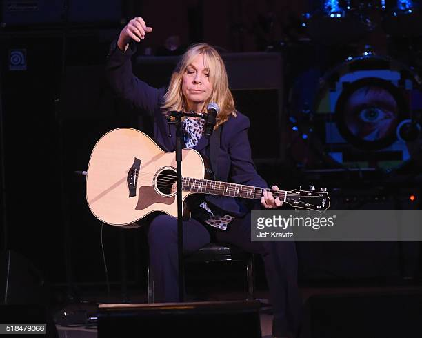Rickie Lee Jones performs All the Young Dudes onstage at Michael Dorf Presents The Music of David Bowie at Carnegie Hall at Carnegie Hall on March 31...