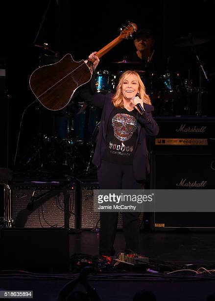 Rickie Lee Jones performs 'All the Young Dudes' onstage at The Music Of David Bowie At Radio City Music Hall at Radio City Music Hall on April 1 2016...